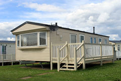 Holiday caravan or mobile home. On trailer park Royalty Free Stock Images