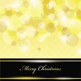 Holiday Card. Christmas holiday abstract gold card Royalty Free Stock Image