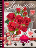 Holiday card with bouquet of beautiful roses. Stock Images