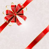 Holiday card with bow Royalty Free Stock Images