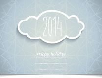 Holiday card with 3D Cloud on melange texture Stock Photos
