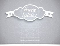 Holiday card with 3D Cloud on melange texture Royalty Free Stock Photo
