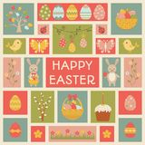 Holiday card with Easter element. Royalty Free Stock Images