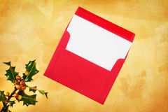 Holiday card and envelope Stock Photo