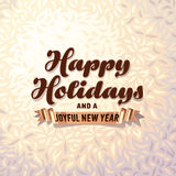 Holiday card on fur background Stock Photos