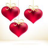 Holiday card with hand drawn hearts. + EPS8. Vector file Royalty Free Illustration