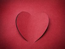 Holiday Card. Heart from paper Valentines day. Look through my portfolio to find more images of the same series royalty free stock images