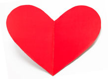 Holiday card heart from paper valentines day isolated Stock Photography