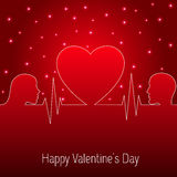 Holiday Card. Heart Valentines day. Vector Stock Image