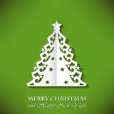 Holiday card in origami style Royalty Free Stock Photo