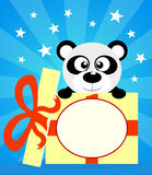 Holiday card with panda Royalty Free Stock Photography