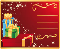 Holiday card with presents Stock Images