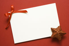 Holiday card with red star Royalty Free Stock Images