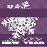 Holiday card with snowflakes and says Royalty Free Stock Image