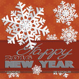 Holiday card with snowflakes and says Royalty Free Stock Photography