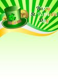 Holiday card on St. Patrick's Day. March 17 - day of good luck, fortunate shamrocks and leprechauns Stock Image