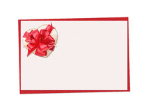 Holiday card. St. Valentines day. Confess his love, declaration of love, Invitation, decorated fabric heart and bow. Isolated on the white stock image