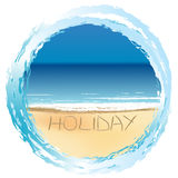 Holiday card with sunny beach Stock Image