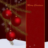 Holiday Card with toys Royalty Free Stock Photography