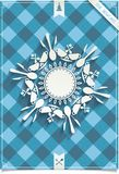 Holiday card with unique design Snowflakes Royalty Free Stock Photos