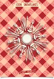 Holiday card with unique design Snowflakes Stock Images