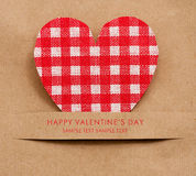 Holiday Card for Valentines day Royalty Free Stock Photo