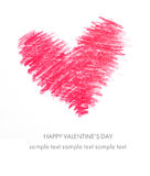 Holiday Card for Valentines day Royalty Free Stock Photos