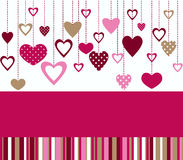 Holiday card. Card for Valentines day with bright colors Royalty Free Stock Images