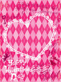 Holiday Card with vintage lace heart, angel and  calligraphic ha Stock Photo