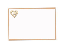 Holiday card with wooden heart Stock Photo