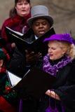 Holiday carolers Royalty Free Stock Photography