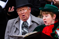 Holiday carolers Royalty Free Stock Photography