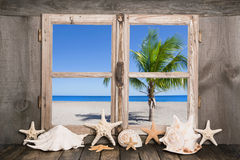 Holiday in carribean islands - blue sky and beach. Stock Photography