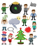 Holiday Cartoon Concepts Royalty Free Stock Photos