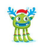 Holiday Cartoon Mascot.  On White Background. Merry Christmas, Happy New Year Congratulation Decoration Design Element. Stock Image