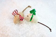 Holiday Cat Toy Royalty Free Stock Photography