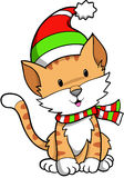 Holiday Cat Vector. Christmas Holiday Cat Vector Illustration Stock Photography