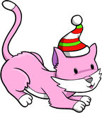 Holiday Cat Vector Royalty Free Stock Images