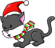 Holiday Cat Vector Stock Photography