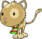Holiday Cat Vector Illustration Stock Photography