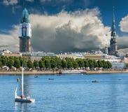 Holiday in center of Riga city, Latvia Stock Photography