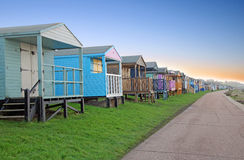 Holiday chalet beach huts Royalty Free Stock Image