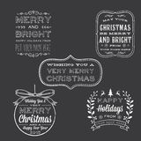 Holiday Chalkboard Greetings Stock Photo