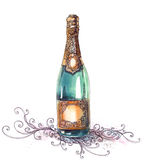 Holiday champagne vector illustration