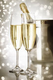 Holiday champagne Stock Images
