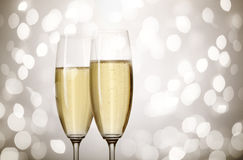 Holiday champagne Stock Photos
