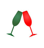 Holiday Champagne Glasses Stock Images