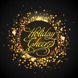 Holiday Cheers Poster, Banner or Flyer design. Stock Photo