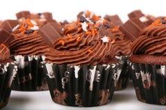 Holiday Chocolate Cupcakes Royalty Free Stock Photo