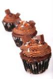 Holiday Chocolate Cupcakes Royalty Free Stock Photos